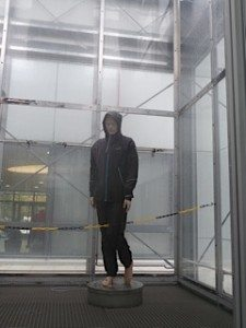 Gore-tex jacket and pants caught in a major indoors rainstorm