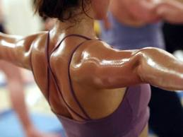 Go sweat: It's a normal thing for a sporty person