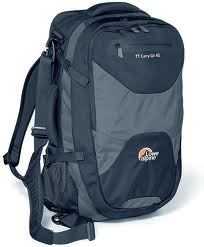 The Lowe Alpine Carry-On 40 travel rucksack in black