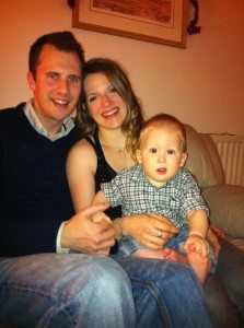 Romy, her husband Wes and baby Ayden
