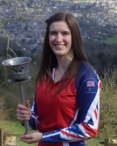 Top GB mogul skier Ellie is an Olympic torch bearer