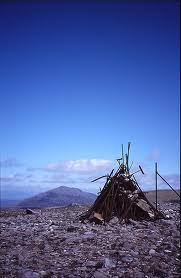 Strange summit cairn on the Munro Meall Garbh
