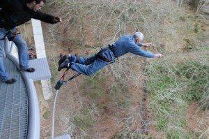 John Macdonald's bungee jump over the River Garry