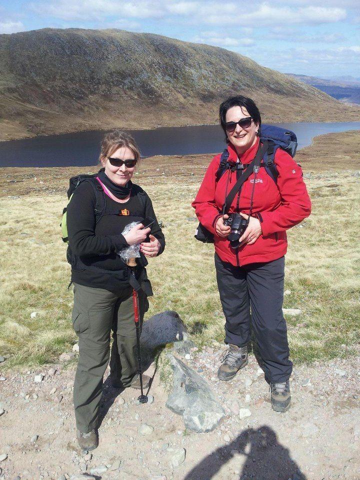 Happy walkers: Debbie and Ellen