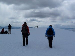 Approaching the top of Ben Nevis