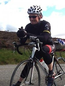 Wheel rescue: Ali cycled an extra 12 miles to fetch Never Say No a new wheel!