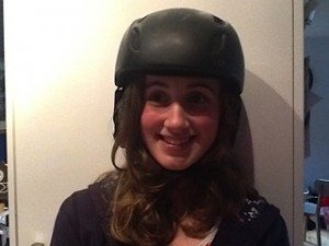Before: My basic black snowboard helmet