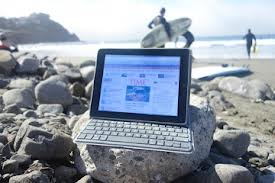 Outdoors with an iPad