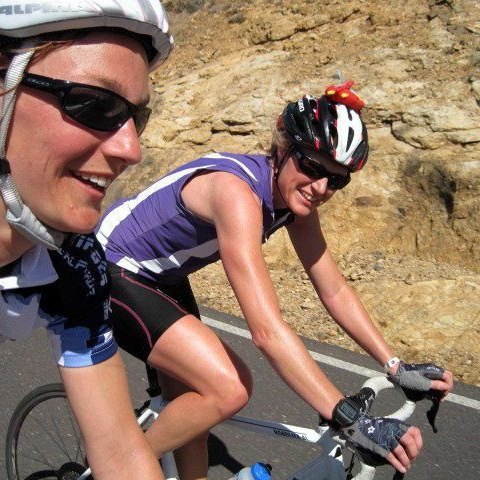 Hannah and me cycling on Fuerteventura