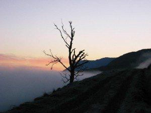 Morning sky in early February en route to Beinn Loinne
