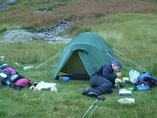 Wild camping in Knoydart, Scotland