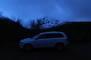 The Volvo XC does the hard work of climbing the first part of Ben Nevis
