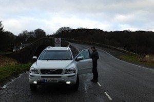 Crossing the Bridge Across the Atlantic to Seil Island, on the west coast of Scotland