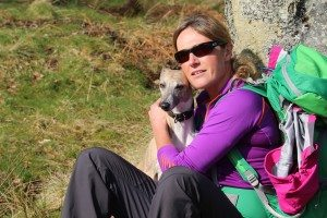 """Thank you to Mike Bolam for this rare """"nice"""" pic of me on the John Muir Way"""