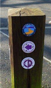John Muir Way signs for walkers