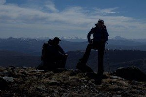 Jimmy and Denise from Selkirk. Grown-up kids and making the most of their freedom to walk mountains.