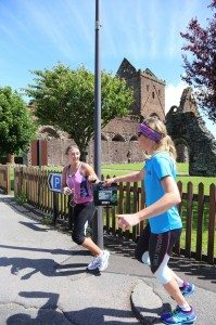 Baton handover at Sweetheart Abbey in New Abbey