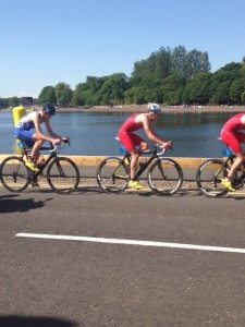 Marc Austin's amazing triathlon race with the Brownlee brothers.