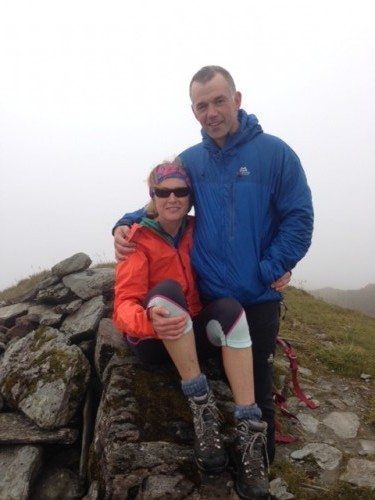 Summit clouds but smiles!