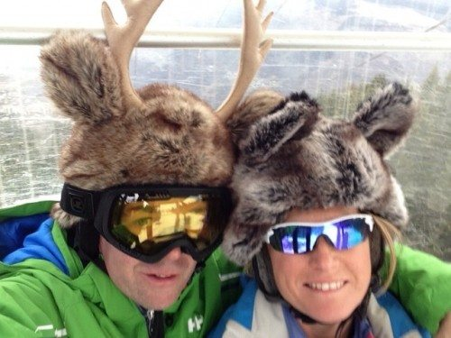 It's always importnat to make sure that goggles fit a reindeeer's head!