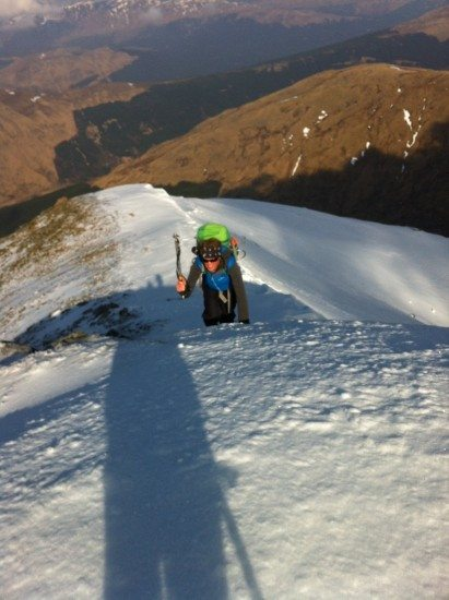 A spot of crampons and ice axe walking.