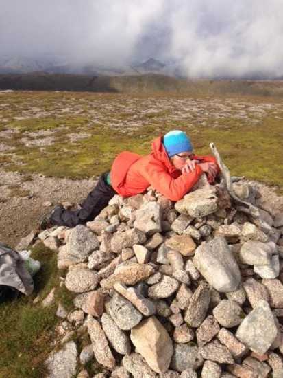 Sometimes I am exhausted on a Munro top!