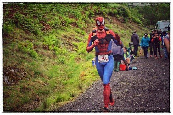 Spider-Man, aka Ross Lawrie, finished in 27.57.04.