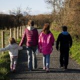 Family walking. Pic credit: Colin Bowern on Flickr Creatives