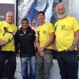 Dig deep: Chris Bonington, Doug Scott, Leo Houlding and BMC President Rehan Siddiqui