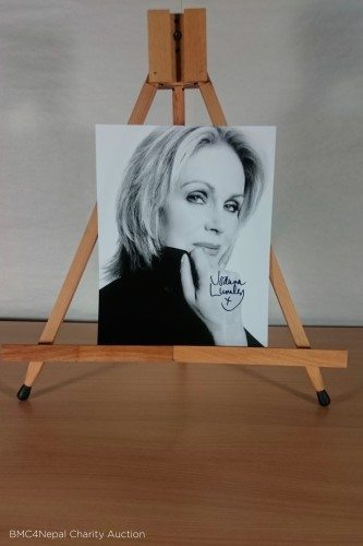 Signed photo of Joanna Lumley.