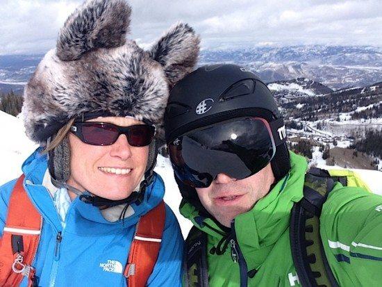 It's fun skiing together!