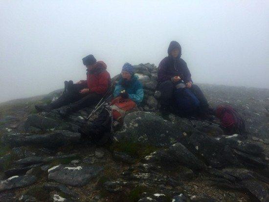 Final summit picnic (still in the clouls!).