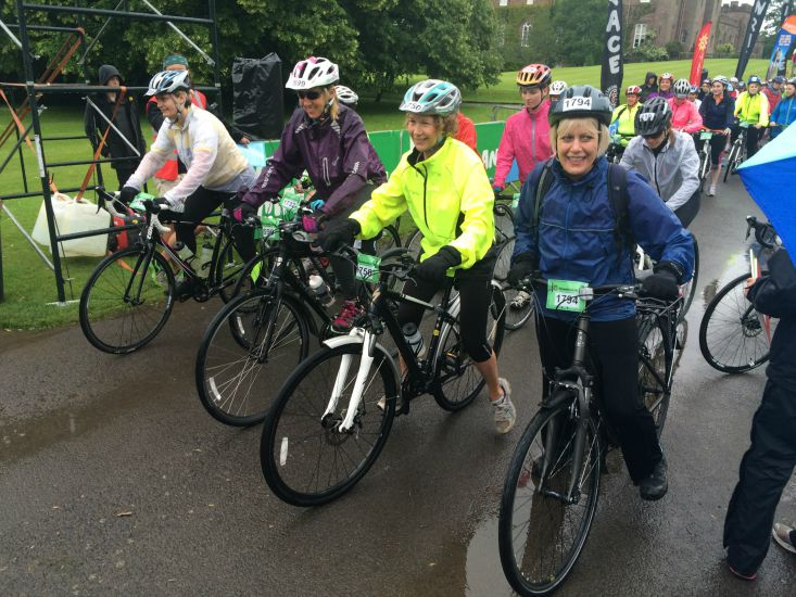 Women took part on all kinds of bikes and in a range of distances.