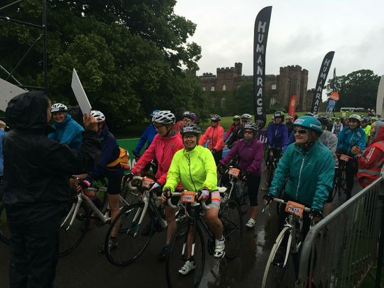 Lots of smiles despite the weather.