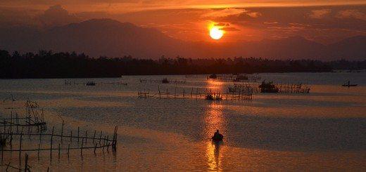 Sunset on Thu Bon river, Vietnam. Pic credit: Loi Nguyen Duc on Flickr