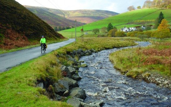 Rising the Moorfoots as part of the Scottish C2C.