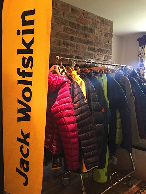 Display of the Jack Wolfskin winter collection.