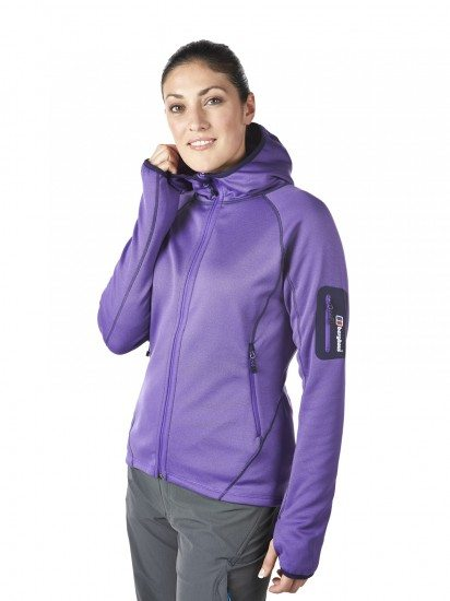 W Pravitale Hooded - electric purple on model (1)