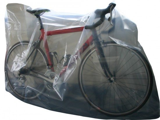 You can buy large plastic CTC bike bags from stores such as Wiggle.