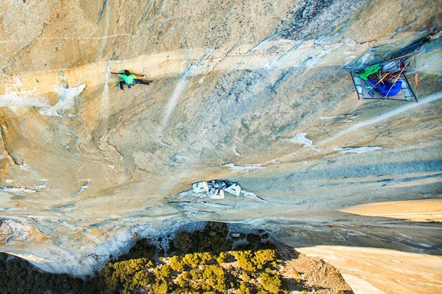 Dawn Wall. Pic credit: Brett Lowell of Big UP Productions.