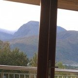 Room with a view: Ben Nevis from my room at The Moorings Hotel.