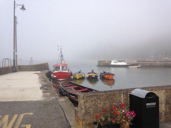 Misty arrival. Pic credit: Jeremy Stevenson