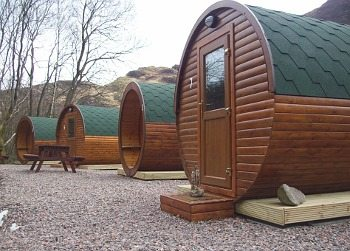 Micro lodges at Glencoe Mountain.