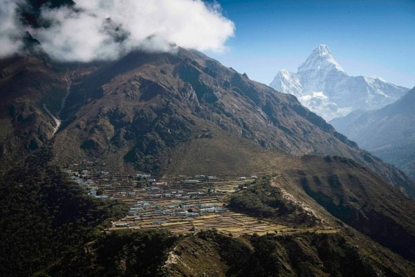 Remote Phortse village in Everest National Park.