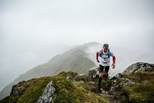 Will Manners, pictured on the Aonach Eagach Ridge, finished 22nd overall at the 2015 Salomon Glen Coe Skyline. © Ian Corless