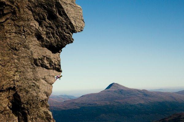 Nat climbing Dalriada.