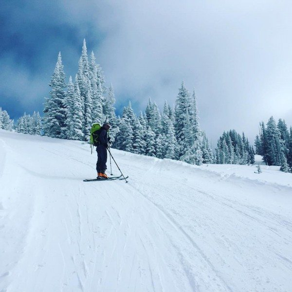 Back country skiing near Alta.