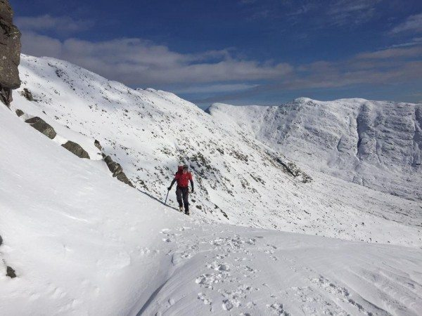Rob ascends the slopes of Cruachan.