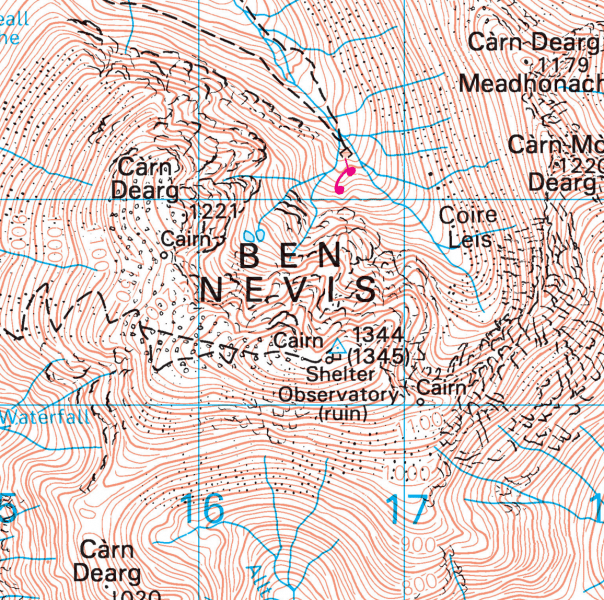 New OS map shows new height of Ben Nevis.