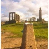 Calton Hill trig pillar.